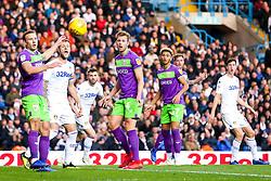 Adam Webster of Bristol City watches the ball go over his head - Mandatory by-line: Robbie Stephenson/JMP - 24/11/2018 - FOOTBALL - Elland Road - Leeds, England - Leeds United v Bristol City - Sky Bet Championship