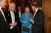 Sir Roy strong, Lady Antonia Pinter and David Cannadine. National Portrait Gallery  150th Anniversary Fundraising Gala. National Portrait Gallery. London. 28 February 2006. ONE TIME USE ONLY - DO NOT ARCHIVE  © Copyright Photograph by Dafydd Jones 66 Stockwell Park Rd. London SW9 0DA Tel 020 7733 0108 www.dafjones.com