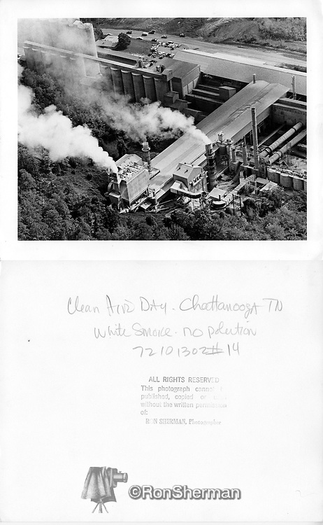 Chattanoogians approved a new Air Pollution Control Ordinance in late 1969.  This aggressive legislation, which created the current Air Pollution Control Board and Bureau, set restrictions on almost all pollution-causing activities in the county.  It placed limits on visible emissions from local industries, and set the attainment date for October 14, 1972.  Incredibly, in that three-year period, every major pollution source in Hamilton County was in compliance, at a cost of over $40 million.
