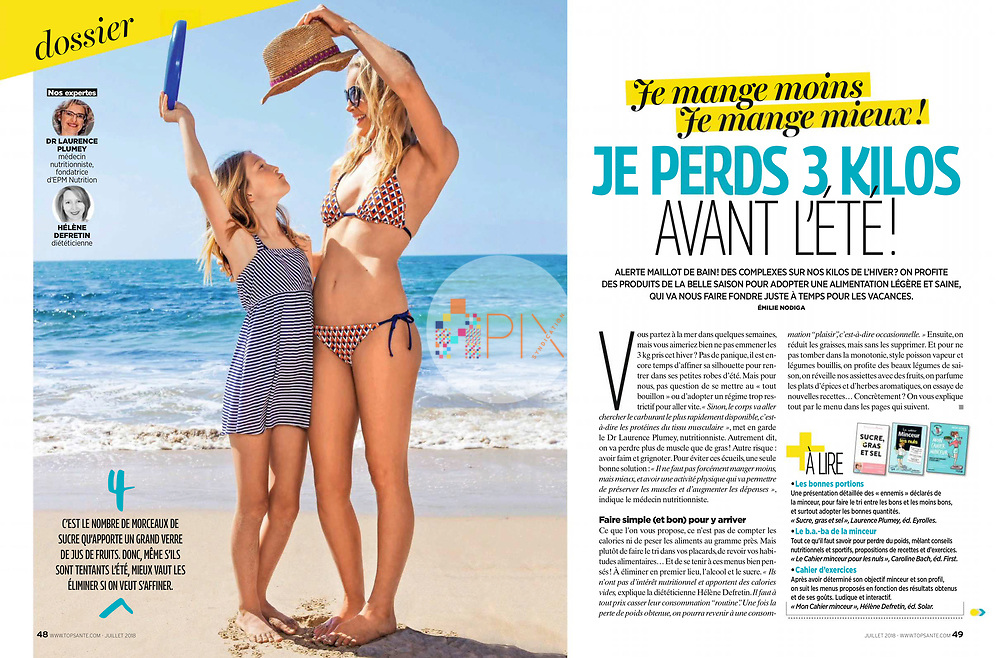 Our gorgeous new cover/feature for Top Santé - a lovely health and lifestyle magazine in France - evokes all those summer feels!<br /> <br /> This image, and the rest of our happy summer-y shoot 'vitamin sea', is available for worldwide use: <br /> https://www.apixsyndication.com/gallery/vitamin-sea/G0000Ex3vOHHytlQ/C00002cwmZDF..5w
