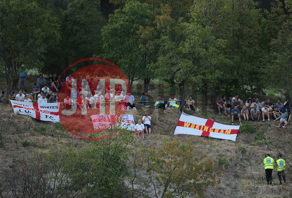 England fans watch from a hill side  - Mandatory byline: Joe Meredith/JMP - 07966386802 - 05/09/2015 - FOOTBALL- INTERNATIONAL - San Marino Stadium - Serravalle - San Marino v England - UEFA EURO Qualifers Group Stage
