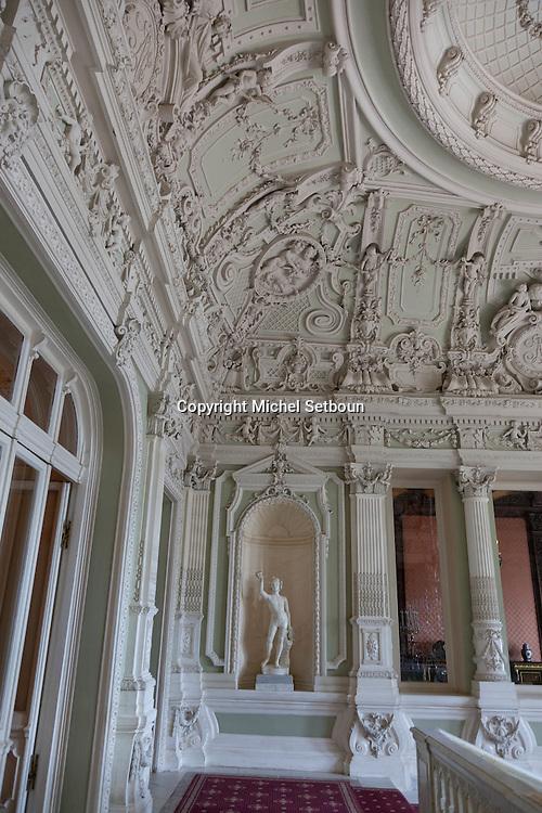 Russia, St Petersburg, interiors of Yussoupov palace museum /// interieur du palais musee Youssoupov. Saint Petersbourg. Russie