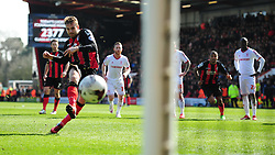 Bournemouth's Brett Pitman scores a penalty. - Photo mandatory by-line: Alex James/JMP - Mobile: 07966 386802 - 21/03/2015 - SPORT - Football - Bouremouth - Goldsands Stadium - Bournemouth v Middlesbrough - Sky Bet Championship