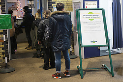 © Licensed to London News Pictures. 13/12/2016. Brighton, UK. Members of the public queue to purchase tickets at Brighton Station as members of the ASLEF union strike. Travellers are advised not to travel. Photo credit: Hugo Michiels/LNP