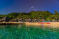 Hilton Moorea Lagoon Resort, island of Moorea, French Polynesia.