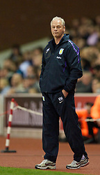 STOKE, ENGLAND - Monday, September 13, 2010: Aston Villa's caretaker manager Kevin MacDonald during the Premiership match against Stoke City at the Britannia Stadium. (Photo by David Rawcliffe/Propaganda)