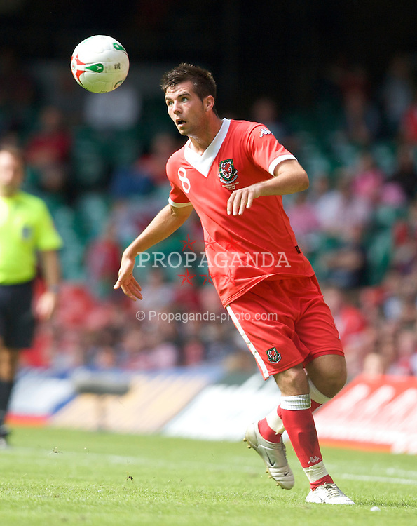 Cardiff, Wales - Saturday, June 2, 2007: Wales' Joe Ledley in action against Czech Republic during the UEFA Euro 2008 Qualifying Group D match at the Millennium Stadium. (Pic by David Rawcliffe/Propaganda)