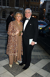SIR SIDNEY & LADY LIPWORTH at a tribute to Luciano Pavarotti in aid of the British Red Cross held at The Guildhall, City of London on 6th June 2005<br />
