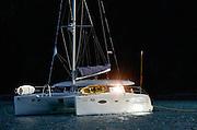 Catamaran sailboat, St. John, U.S. Virgin Islands.