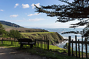 "Fort Ross State Historic Park preserves a former Russian colony (1812-1842) on the west coast of North America, in what is now Sonoma County, California, USA. Visit Fort Ross and dramatic coastal scenery 11 miles north of Jenner on California Highway One.  Initially, sea otter pelts funded Russian expansion, but by 1820, overhunting motivated the Russian-American Company to introduce moratoriums on hunting seals and otters, the first marine-mammal conservation laws in the Pacific. Russian voyages greatly expanded California's scientific knowledge. For centuries before Europeans arrived, this site was called Metini and had been occupied by the Kashaya band of Pomo people who wove intricate baskets and harvested sea life, plants, acorns, deer, and small mammals. Sponsored by the Russian Empire, ""Settlement Ross"" was multicultural, built mostly by Alaskan Alutiiq natives and occupied mostly by native Siberians, Alaskans, Hawaiians, Californians, and mixed Europeans. Renamed ""Ross"" in 1812 in honor of Imperial Russian (Rossiia), Fortress Ross was intended to grow wheat and other crops to feed Russians living in Alaska, but after 30 years was found to be unsustainable. Fort Ross was sold to John Sutter in 1841, and his trusted assistant John Bidwell transported its hardware and animals to Sutter's Fort in the Sacramento Valley. Fort Ross is a landmark in European imperialism, which brought Spanish expanding west across the Atlantic Ocean and Russians spreading east across Siberia and the Pacific Ocean. In the early 1800s, Russians coming from the north met Spanish coming from the south along the Pacific Coast of California, followed by the USA arriving from the east in 1846 for the Mexican-American War. Today, Fort Ross is a California Historical Landmark and a National Historic Landmark."