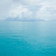 Stormy sky over Caribbean ocean. Cancun, Quintana Roo. Mexico.