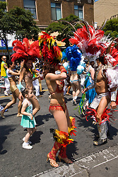 California: San Francisco Carnaval festival parade in the Mission District. Photo copyright Lee Foster. Photo # 30-casanf81499