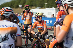 Evelyn Stevens (USA) of Boels-Dolmans Cycling Team finishes her final road race of her career after the 121.5 km road race of the UCI Women's World Tour's 2016 Grand Prix Plouay women's road cycling race on August 27, 2016 in Plouay, France. (Photo by Balint Hamvas/Velofocus)