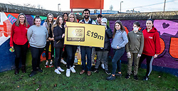 Pictured: Humza Yousaf with some of the regular attendees<br />