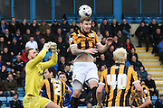 Early Port Vale goalmouth scramble during the Sky Bet League 1 match between Gillingham and Port Vale at the MEMS Priestfield Stadium, Gillingham, England on 16 April 2016. Photo by Martin Cole.