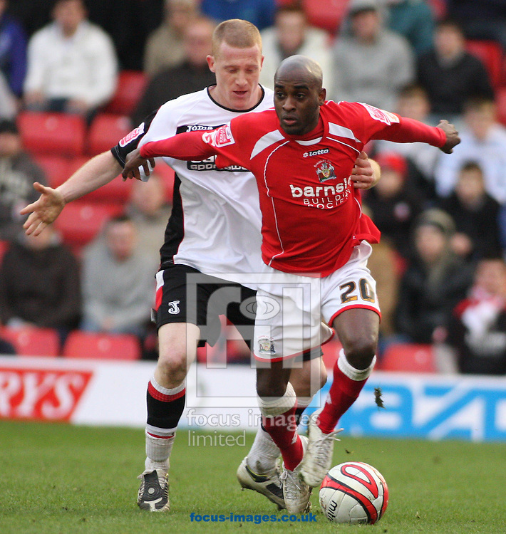 Barnsley - Saturday 21st February 2009 : Jamal Campbell-Ryce of Barnsley & Nicky Bailey of Charlton Athletic in action during the Coca Cola Championship match at Oakwell, Barnsley. (Pic by Steven Price/Focus Images)