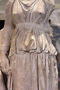 Funerary relief Woman with servant, Attic tombs limestone End 4 century BC Near Idalion