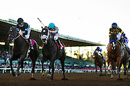 December 26 2014: Shared Belief and Mike Smith defeat Conquest Two Step with Joe Talamo and Chitu with Joel Rosario to  win the Malibu Stakes at Santa Anita Park in Arcadia CA. Alex Evers/ESW/CSM
