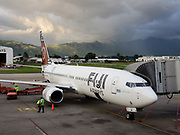 A rainbow over a Fiji Airways jet in Suva, Fiji. We flew Fiji Airways from Christchurch over South and North Islands of New Zealand to Fiji then back to San Francisco, from where we drove back to Seattle. As of 2019, demand for air travel is surging just when our window to limit catastrophic global warming is closing. Decarbonizing the airline industry has proven difficult so far. I personally attempt to offset the carbon footprint of my photo-travel profession by not having kids (not birthing new children); by a lifetime of frugality and recycling; by driving exceptionally fuel-efficient vehicles (such as Toyota Prius); and by eating lower on the food chain.