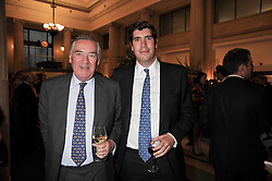 Left to right, LORD VESTEY and his son the HON.ARTHUR VESTEY at the opeing of Green's Restaurant & Oyster Bar, 14 Cornhill, London EC3 on 1st September 2009.