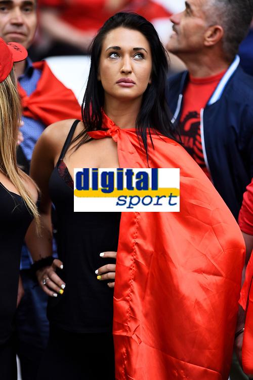 Tifosa Albania Supporters <br /> Marseille 15-06-2016 Stade du Velodrome <br /> Football Euro2016 France - Albania / Francia - Albania Group Stage Group A<br /> Foto Massimo Insabato / Insidefoto