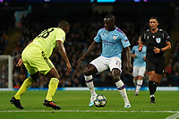 Manchester City's Benjamin Mendy under pressure from  Kevin Theophile-Catherine of Dinamo Zagreb<br /> <br /> Football - 2019 / 2020 UEFA Champions League - Champs Lge Grp C: Man City-D Zagreb<br /> <br /> , at Etihad Stadium<br /> <br /> Colorsport / Terry Donnelly