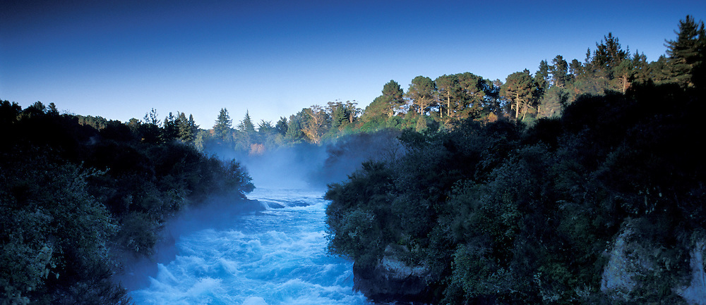 Waikato River near Huka Falls, Taupo, North Island, New Zealand