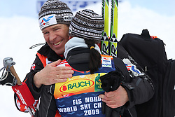 World Champion Justyna Kowalczyk of Poland and her coach at Ladies` Pursuit 7,5 km Classic + 7,5 km Free at FIS Nordic World Ski Championships Liberec 2008, on February 21, 2009, in Vestec, Liberec, Czech Republic. (Photo by Vid Ponikvar / Sportida)