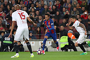 NEYMAR of FC Barcelona during the Spanish championship Liga football match between FC Barcelona and Sevilla FC on April 5, 2017 at Camp Nou stadium in Barcelona, Spain. <br /> Photo Manuel Blondeau / AOP Press / ProSportsImages / DPPI