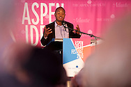 05  JUL 2010: Attendees speak at the Aspen Ideas Festival, sponsored by Booz Allen Hamilton, in Aspen, CO.  ©Brett Wilhelm