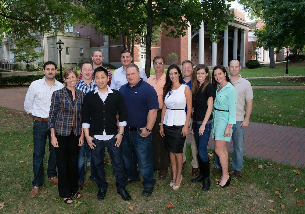 MBA group photo and headshots. Photo by Lauren Pond