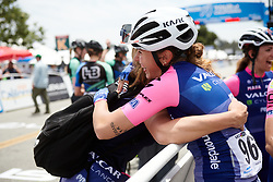 Silvia Persico  (ITA) celebrates the team win at Amgen Tour of California Women's Race empowered with SRAM 2019 - Stage 3, a 126 km road race from Santa Clarita to Pasedena, United States on May 18, 2019. Photo by Sean Robinson/velofocus.com