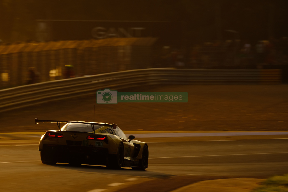 June 17, 2018 - Le Mans, Sarthe, France - Corvette Racing GM USA Chevrolet Corvette C7.R Driver ANTONIO GARCIA (ESP) in action during the 86th edition of the 24 hours of Le Mans 2nd round of the FIA World Endurance Championship at the Sarthe circuit at Le Mans - France (Credit Image: © Pierre Stevenin via ZUMA Wire)