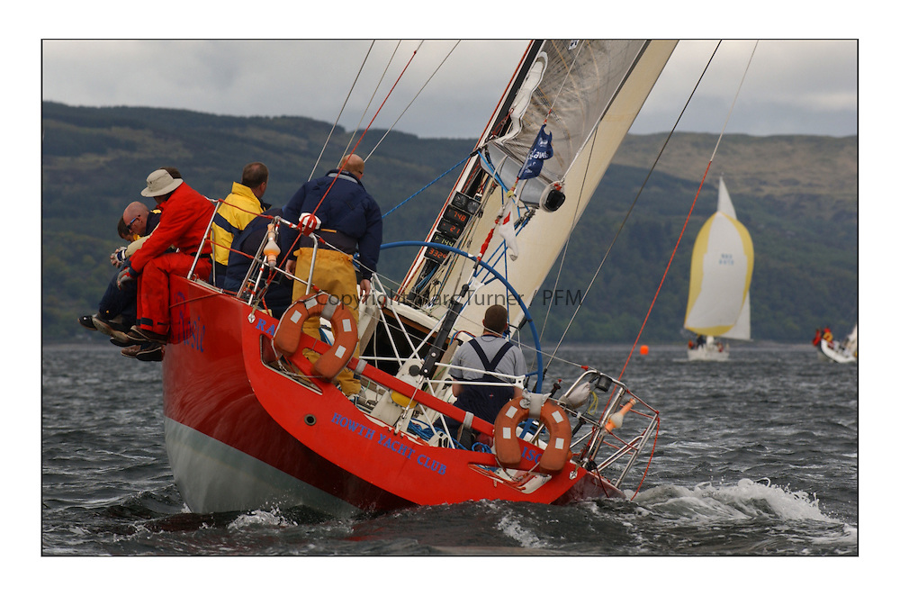 Yachting- Sundays inshore racing  of the Bell Lawrie Scottish series 2003 at Tarbert Loch Fyne. Again light westerly winds and flat water made for tactical racing...'Cracklin Rosie' a Corby 40 from Howth won Class one overall...Pics Marc Turner / PFM