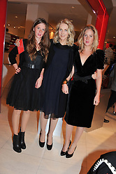 Left to right, RUBY BOGLIONE, GAEL BOGLIONE and LARA BOGLIONE at an exhibition at The Conran Shop entitled Red to celebrate 25 years of The Conran Shop at the Michelin Building, 81 Fulham Road, London on 19th September 2012.