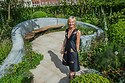 Jo Whiley in her scent garden - The Chelsea Flower Show organised by the Royal Horticultural Society with M&G as its MAIN sponsor for the final year.