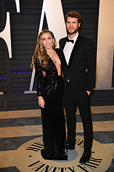 Miley Cyrus and Liam Hemsworth attending the 2019 Vanity Fair Oscar Party hosted by editor Radhika Jones held at the Wallis Annenberg Center for the Performing Arts on February 24, 2019 in Los Angeles, CA, USA. Photo by David Niviere/ABACAPRESS.COM