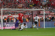 goal by Franck RIBERY (#7), 4:1, Bayern Munich's French midfielder  during the Bundesliga match vs Frankfurt. <br /> MUNICH, 18. MAY 2019,  Fc BAYERN vs Eintracht FRANKFURT, 5:1 - Bundesliga Football Match, <br /> FcBayern Muenchen vs Eintracht FRANKFURT Bundesliga match at Allianz Arena on 18.05.2019, DFL REGULATIONS PROHIBIT ANY USE OF PHOTOGRAPHS AS IMAGE SEQUENCES AND/OR QUASI-VIDEO - fee liable image, <br /> copyright &copy; ATP / Arthur THILL