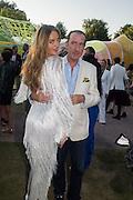 MASHA MARKOVA; ROBERT HANSON, Serpentine's Summer party co-hosted with Christopher Kane. 15th Serpentine Pavilion designed by Spanish architects Selgascano. Kensington Gardens. London. 2 July 2015.