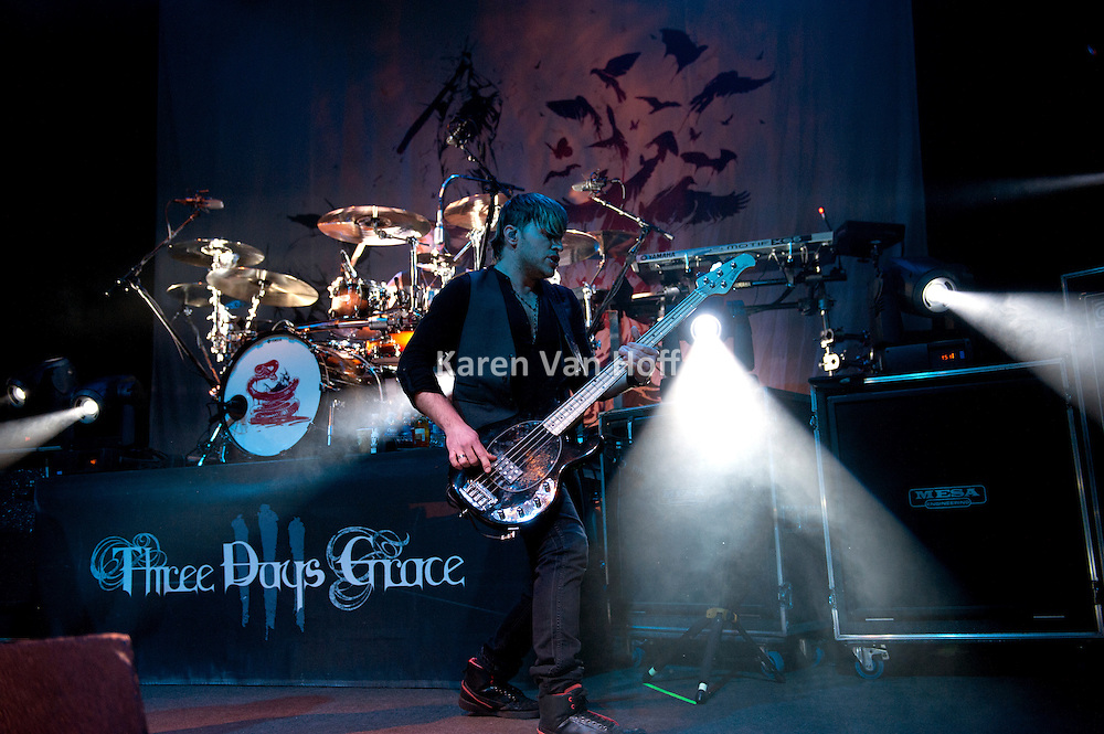 Three Days Grace performing at the 9:30 Club in Washington, D.C. on April 12, 2011