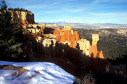 Bryce Canyon National Park: Aqua Canyon, with snow.