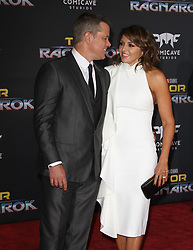 Thor: Ragnarok Premiere at El Capitan Theatre in Hollywood, California on 10/10/17. 10 Oct 2017 Pictured: Matt Damon, Luciana Barroso. Photo credit: River / MEGA TheMegaAgency.com +1 888 505 6342