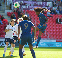 31.08.2013, Parc y Scarlets, Llanelli, ENG, UEFA Damen U19 EM, England vs Frankreich, Finale, im Bild France's Aminata Diallo celebrates scoring the second goal against England during the final UEFA women U 19 championchip match between England and france at Parc y Scarlets in Llanelli, Great Britain on 2013/08/31. EXPA Pictures © 2013, PhotoCredit: EXPA/ Propagandaphoto/ Alan Seymour<br /> <br /> ***** ATTENTION - OUT OF ENG, GBR, UK *****