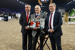 Devos Ingmar, Buchmann Jacky, Maes Glenn<br /> Vlaanderens Kerstjumping<br /> Memorial Eric Wauters<br /> Jumping Mechelen 2017<br /> © Hippo Foto - Dirk Caremans<br /> 26/12/2017