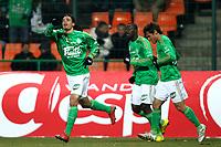 FOOTBALL - FRENCH CHAMPIONSHIP 2009/2010 - L1 - AS SAINT ETIENNE v LILLE OSC - 6/03/2010 - PHOTO ERIC BRETAGNON / DPPI -  JOY EMMANUEL RIVIERE (ASSE)