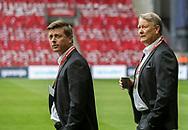 FOOTBALL: Assistant coach Jon Dahl Tomasson and coach Åge Hareide (Denmark) before the EURO 2020 Qualifier match between Denmark and Ireland at Parken Stadium on June 7, 2019 in Copenhagen, Denmark. Photo by: Claus Birch / ClausBirchDK.