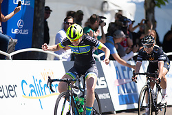 Kendall Ryan (USA) of Tibco-Silicon Valley Bank Cycling Team wins Stage 1 of the Amgen Tour of California - a 124 km road race, starting and finishing in Elk Grove on May 17, 2018, in California, United States. (Photo by Balint Hamvas/Velofocus.com)
