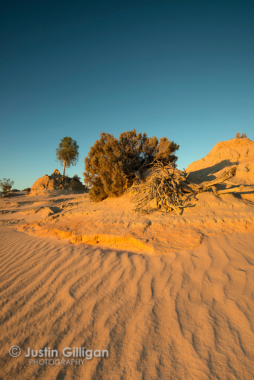 Mungo National Park, part of the Willandra Lakes Region World Heritage Area situated in western New South Wales, Australia.