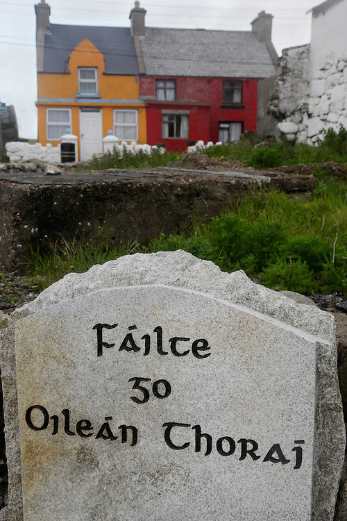 """Welcome to Tory island"" Village, Tory Island, North-Western Ireland"