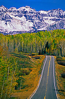 Highway 145 near Telluride, Colorado USA